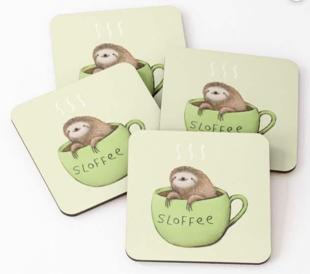 sloth coasters