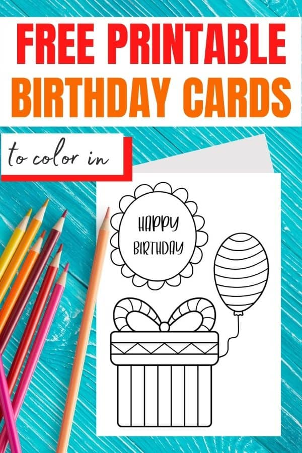 birthday card to color