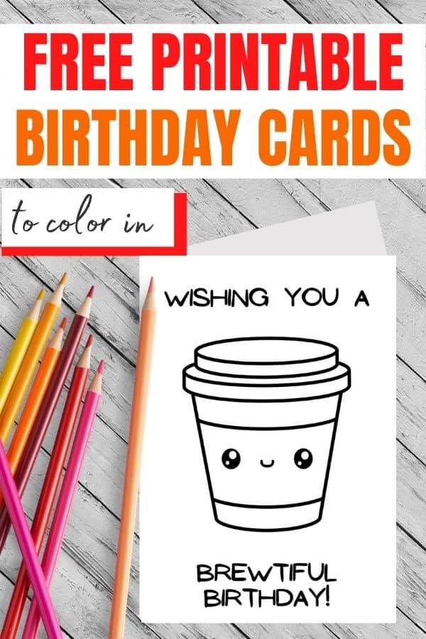 happy birthday coloring card
