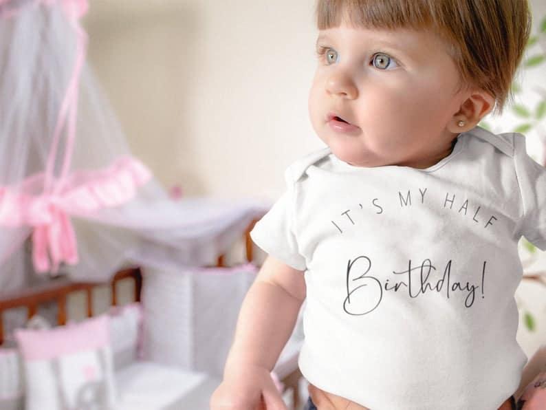 baby half birthday - 6 month birthday