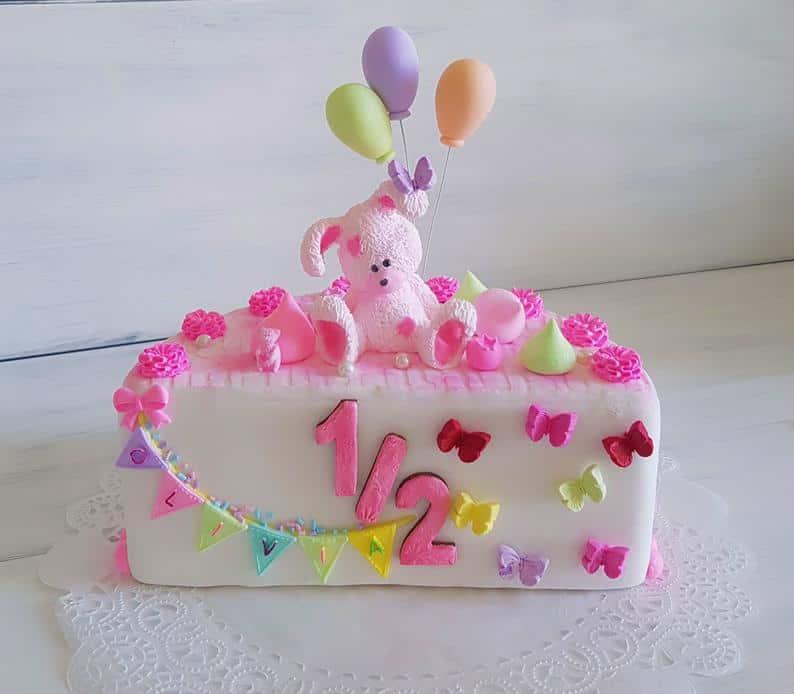 baby half birthday cake