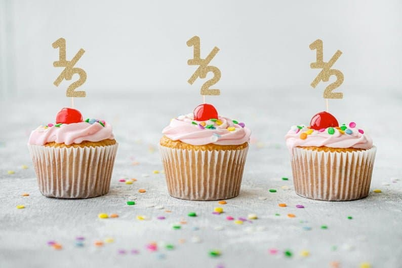 half birthday cupcakes