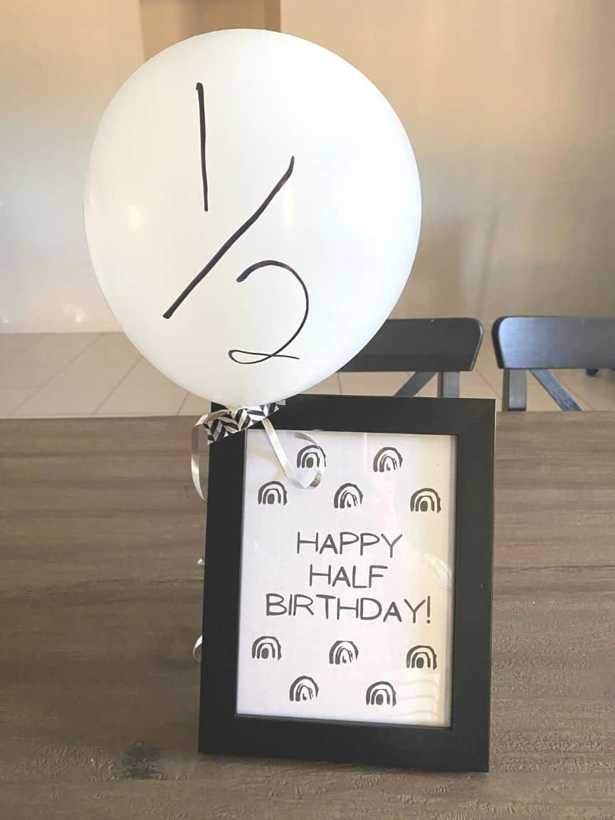 half birthday ideas