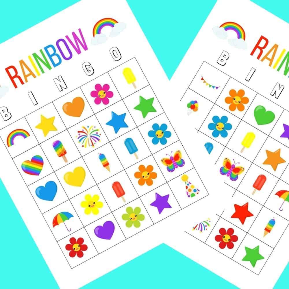printable rainbow bingo 1