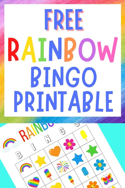 printable rainbow bingo