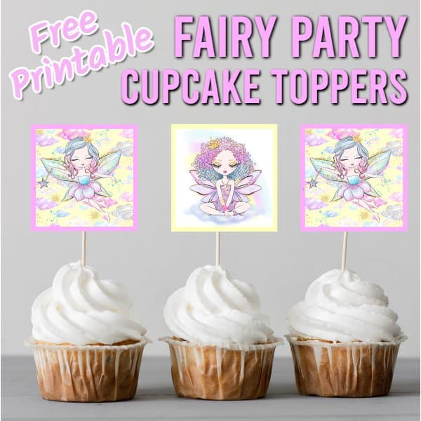 fairy cupcake toppers