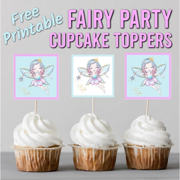 free fairy cupcake toppers