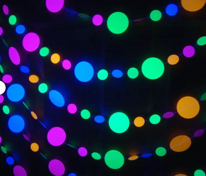black light party decorations