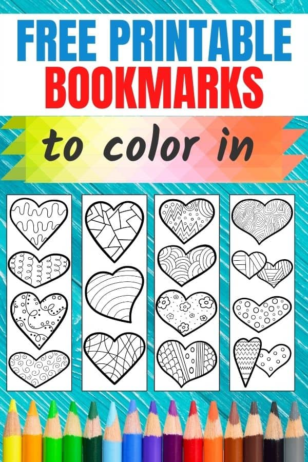 printable bookmarks to color for adults