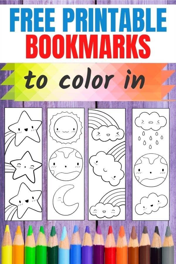 printable bookmarks to colour