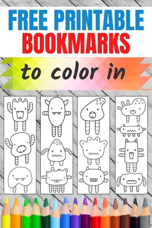 printable kids bookmarks