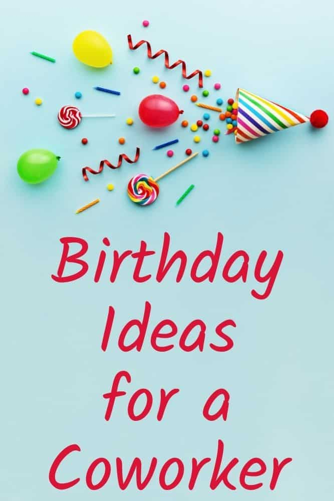 birthday ideas for coworker