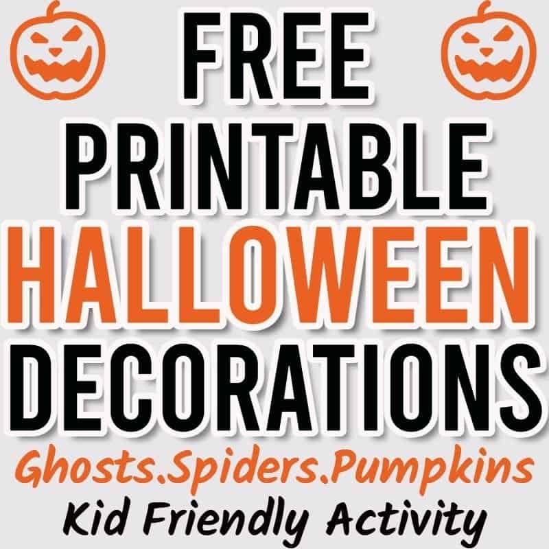 Halloween printable decorations
